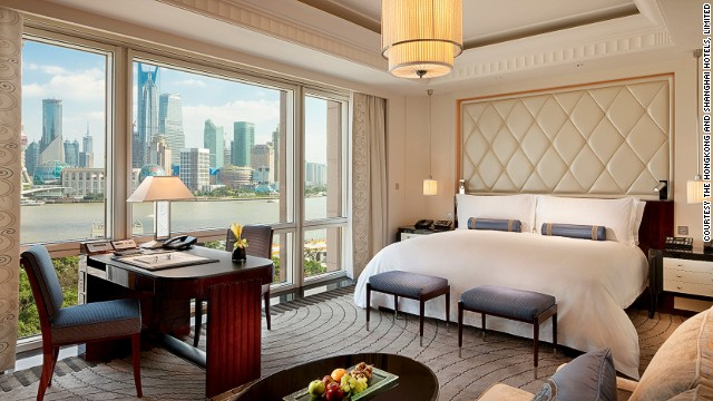 The mock-up rooms are used as testing grounds to ensure the real things, once released, are perfect. This is the finished product: a Deluxe Room, one of 235 rooms and suites at The Peninsula Shanghai.