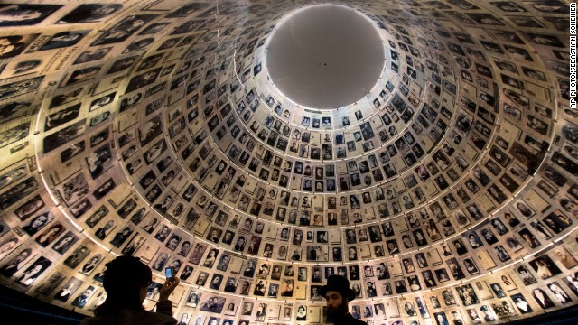 JANUARY 27 - JERUSALEM: An ultra-Orthodox Jewish couple visits the Hall of Names at the Yad Vashem Holocaust memorial. Monday marks the International Holocaust Remembrance Day, commemorating the victims of the Holocaust on the anniversary of the liberation of Auschwitz-Birkenau in 1945.