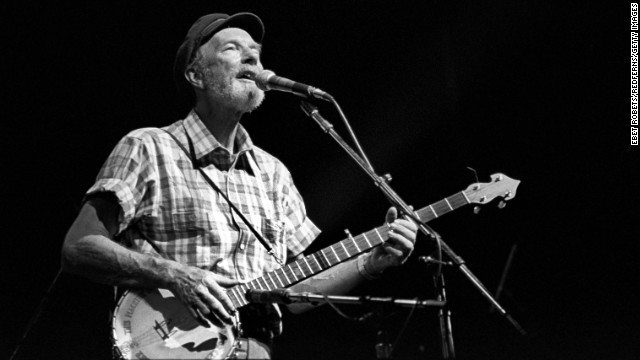 "Legendary folk singer <a href='http://ift.tt/1aGBooS' target='_blank'>Pete Seeger</a>, known for classics such as ""Where Have All the Flowers Gone"" and ""If I Had a Hammer (The Hammer Song),"" died of natural causes in New York on January 27, his grandson told CNN. He was 94."