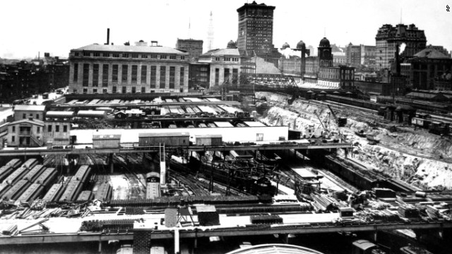 New York City's Grand Central Depot undergoes construction in June 1909. The train station was rebuilt after a wreck in the tunnels killed 15 people in 1902.