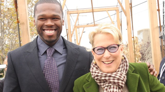 "It turns out that Meryl Streep isn't 50 Cent's only high-powered friend. He's also pals with Bette Midler, volunteering for Midler's New York Restoration Project. ""He's really made my life worth living,"" <a href='http://www.nydailynews.com/entertainment/gossip/50-cent-bette-midler-odd-pairing-restoration-project-article-1.372944' target='_blank'>Midler said in 2009</a>. ""(50) has been with me through thick and thin."""