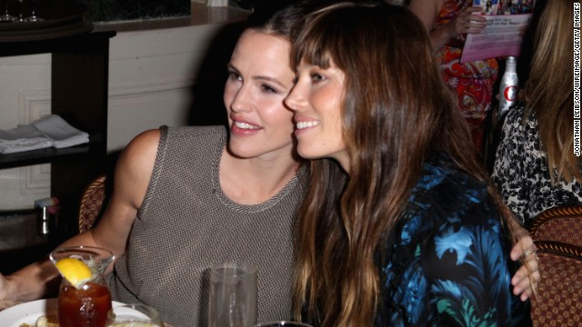 "Ever since they co-starred in the 2010 romantic comedy ""Valentine's Day,"" Jennifer Garner, left, and Jessica Biel can't get enough of one another. ""We don't work with a lot of women on our films,"" <a href='http://www.marieclaire.com/celebrity-lifestyle/celebrities/jennifer-garner-jessica-biel-interview' target='_blank'>Biel explained of their bond</a>. ""On this film, it was great to have someone like Jessica around."""