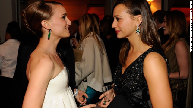 "Rashida Jones, right, knows she can count on her friend Natalie Portman for all the really important things, such as what to expect when kissing a gal pal on camera. Jones' BFF Portman, who'd practiced in 2010's ""Black Swan,"" <a href='http://www.accesshollywood.com/rashida-jones-dishes-on-kissing-zooey-deschanel-in-our-idiot-brother-reveals-love-scene-advice-from-natalie-portman_article_51963' target='_blank'>gave Jones advice</a> for her role as a gay woman in 2011's ""My Idiot Brother."""