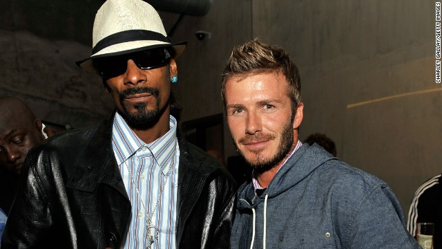 "Snoop Dogg -- excuse us, he's Snoop Lion now -- and David Beckham are such good friends, <a href='http://www.nme.com/news/snoop-dogg/56893#if5IJwSRhRekX9sO.99' target='_blank'>the rapper will preview his songs</a> for the British athlete. ""When I make my records, he's one of the first people I send the record to before it's done, even before the label get it,"" he's said."