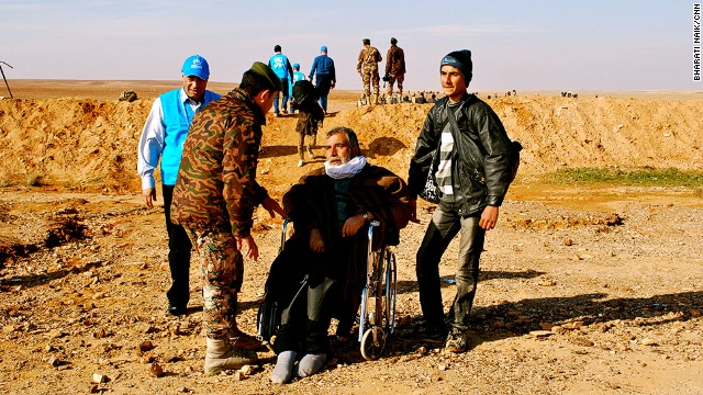The oldest are often the last ones to make it across the border, and Jordan has deployed doctors to the border to assist with the most vulnerable.