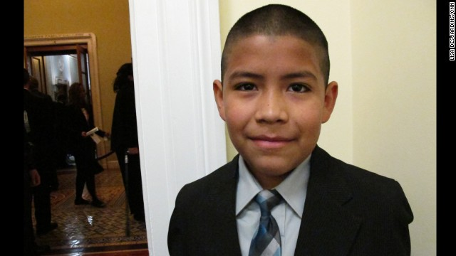 Luis Castaneda: The fifth-grader won his ticket from Rep. Henry Cuellar, D-Texas, in an essay contest. Luis wrote that going to the State of the Union would change his life forever and help move him toward his lifetime goal of attending Yale. Asked if his family is proud, Luis' grandmother Sylvia choked back tears.