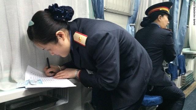 Conductors register passengers.
