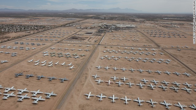 Pima's most popular attraction is the Boneyard, aka the place planes go to die. In Tucson, Arizona, the area covers 2,600 acres and contains the rusting hulks of 4,000 retired aircraft.