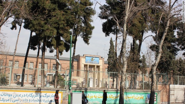 A view of the former U.S. Embassy in Tehran. Once a prison for over 50 American hostages nearly 35 years ago, the two-story building is run by the Iranian government and has been turned into an Islamic cultural center and a propaganda museum of sorts for the Islamic Revolution. CNN's Jim Sciutto visited the facility. See the photo gallery.