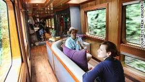 Tren Crucero\'s four luxury carriages were manufactured in Madrid and hold 54 passengers in total.