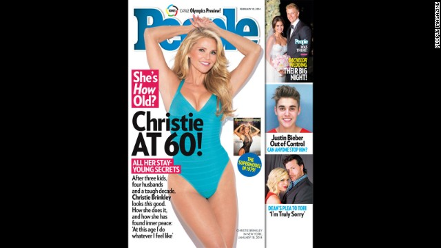 "Christie Brinkley turned 60 in February and celebrated by showing off her birthday (swim)suit <a href='http://www.people.com/people/article/0,,20780764,00.html' target='_blank'>on the cover of People magazine</a>. The model and mom of three said she is feeling better than ever as she heads toward the milestone. ""I'm actually excited about turning 60,"" Brinkley told People. ""My 50s weren't easy. ... But I made it through. Now I feel on top of my game."""