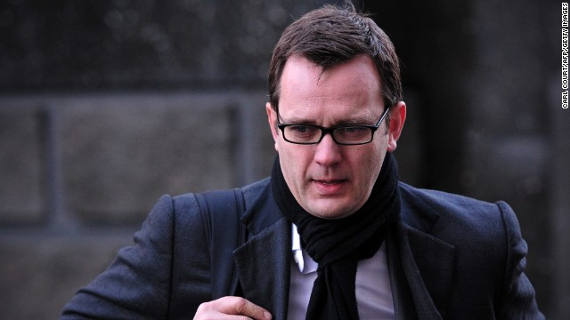 Former News of the World editor Andy Coulson arrives at the phone-hacking trial in London on January 27, 2014.