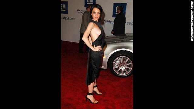 "Lindsay Lohan has intentionally exposed her breasts on a number of occasions, but we don't think her appearance at a 2010 General Motors celebrity fashion show was one of them. (""Think"" being the operative word here.)"