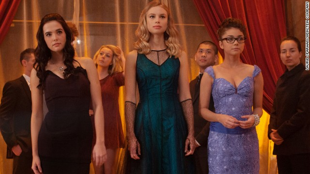 "<strong>""Vampire Academy""</strong> (February 7) This romp follows a group of nubile vampires who face off against a clique of evil bloodsuckers. Sarah Hyland, right, of ""Modern Family"" stars."