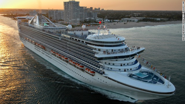 Princess Cruises' Caribbean Princess, seen here, cut its seven-day trip short after at least 165 passengers and 11 crew members reported being ill, the cruise company said January 31.