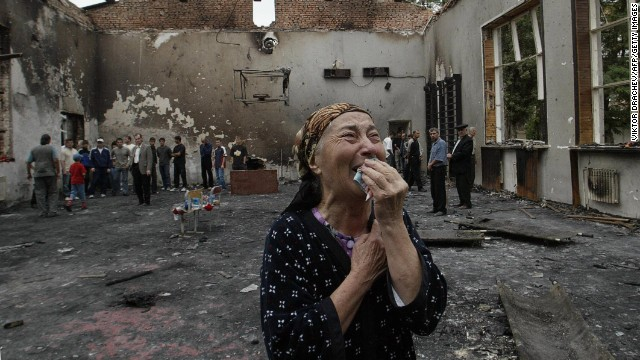 On September 1, 2004, armed Chechen rebels took approximately 1,200 children and adults hostage at a school in Beslan, North Ossetia. Hundreds of people were killed as a result of the three-day siege in southern Russia.