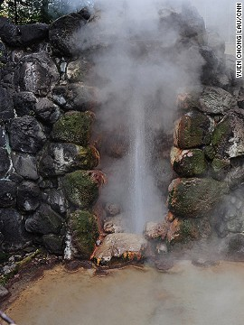 A natural monument of Beppu, Tatsumaki erupts every 30 to 40 minutes with a display that lasts six to 10 minutes.