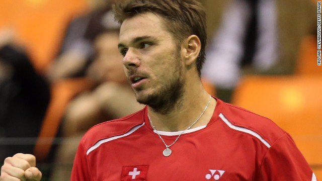 Stanislas Wawrinka claimed a four-set victory on his return to action after winning the Australian Open.