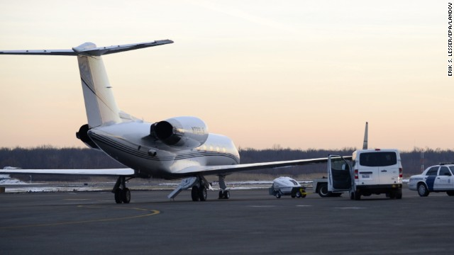 U.S. Customs and Border Protection officers searched an airplane -- thought to be the one pictured -- carrying Bieber and others on January 31, at Teterboro Airport in New Jersey. Officers said they detected an odor of what seemed like marijuana after the plane landed, law enforcement sources told CNN.