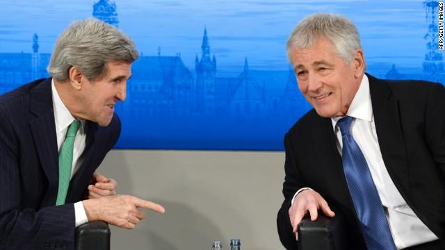 Kerry, Hagel rebuke Reid on fast-track trade bill