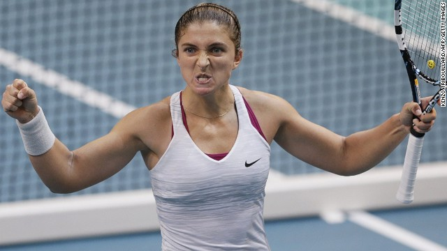 The 22-year-old will next play Italy's Sara Errani after the 2012 French Open finalist won an epic three-hour semifinal against home hope Alize Cornet.