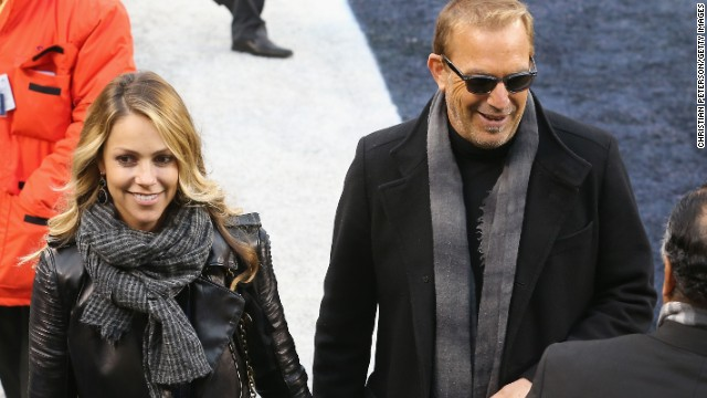 Star quality. Actor Kevin Costner and his wife Christine Baumgartner turn up to watch the proceedings at the Metlife Stadium.