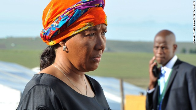Nelson Mandela's eldest daughter, Makaziwe Amuah Mandela, arrives for the funeral ceremony of Mandela in Qunu on December 15, 2013. She has already received $300,068 and is bequeathed as many rands as required to set off the obligation.