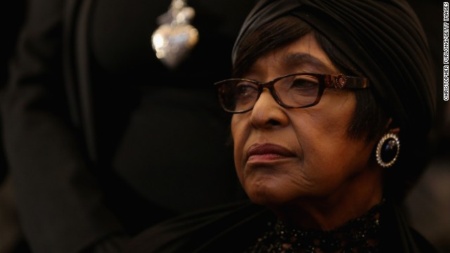Winifred Madikizela-Mandela, ex-wife of Nelson Mandela, attends a service at Bryanston Methodist Church during a national day of prayer, on December 8, 2013 in Johannesburg, South Africa. Nelson Mandela has left her nothing.