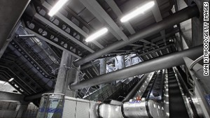 Austerely beautiful: Futuristic Westminster station.
