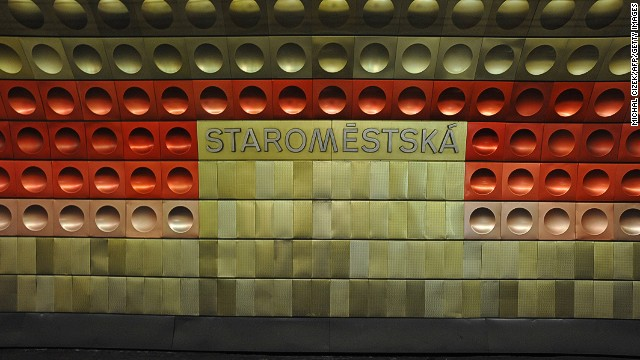 Actually, all of Prague's stations, not just Staromestska deserve a place here for the unforgettable dimpled wall design, different for each stop and just on the fun side of good taste.