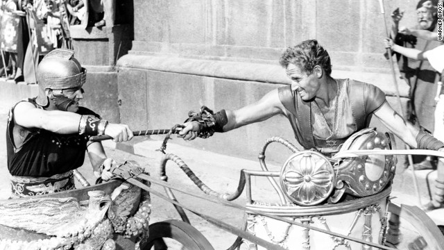 "Biblical epics were all the rage in the 1950s, and none more so than William Wyler's ""Ben-Hur."" The movie won a then-record 11 Academy Awards, including best picture, director (Wyler) and actor (Charlton Heston, right). The chariot scene undoubtedly helped ensure <a href='http://www.afi.com/10top10/epic.html' target='_blank'>""Ben-Hur's"" No. 2 ranking on the American Film Institute's list </a>of greatest epics."
