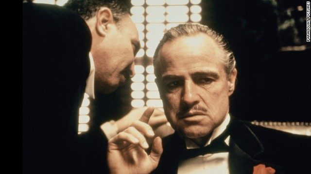 "With his career in decline for nearly a decade, Marlon Brando scored a comeback as Don Vito Corleone, the aging patriarch of a crime family, in Francis Ford Coppola's ""The Godfather."" Brando won his second Oscar for best actor (which he refused), and the movie made a superstar of Al Pacino as the son who takes over the ""family business."" The movie ranked <a href='http://www.afi.com/100years/movies10.aspx' target='_blank'>No. 2 on the American Film Institute's list of the top 100 U.S. films.</a>"