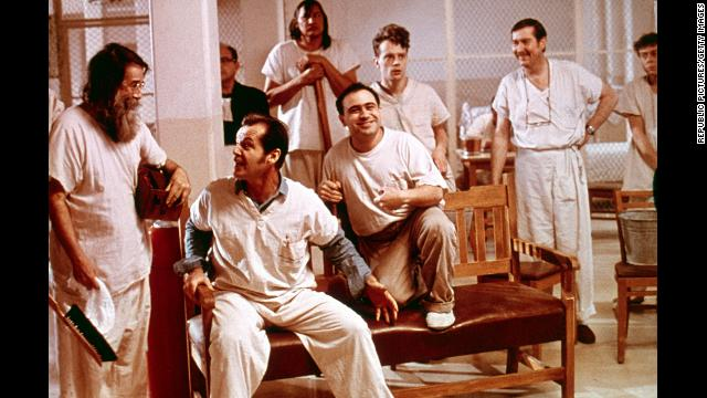 """One Flew Over the Cuckoo's Nest"" captured all four top Academy Awards, a feat that had not been accomplished in more than 40 years (not since ""It Happened One Night."") Besides best picture, the movie took home Oscars for best director (Milos Forman), actor (Jack Nicholson) and actress (Louise Fletcher). It won a fifth for best adapted screenplay. In this film of Ken Kesey's novel, Nicholson, second from left, struck a chord with audiences as McMurphy, a rebellious inmate in a mental institution who faces off against the ultimate authority figure, Nurse Ratched (Fletcher)."