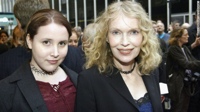 "Mia Farrow and then-teen daughter Malone Farrow arrive at the opening night of ""Gypsy"" on Broadway at The Shubert Theatre in 2003 in New York. Malone previously went by the name ""Dylan"" and has accused Woody Allen of assaulting her when she was 7 years old, a claim Allen has denied. She is now married and a writer."