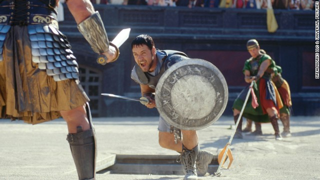 "<strong>""Gladiator"" </strong>(2000) -- Russell Crowe and Joaquin Phoenix star in this Ridley Scott-directed film about a Roman general who is enslaved and forced to fight as a gladiator. (Netflix)"