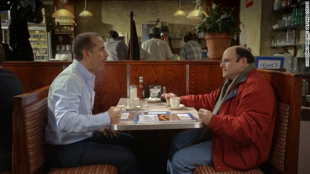 Jerry Seinfeld and Jason Alexander reunite for a commercial, of sorts, during the Super Bowl.