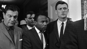 James Meredith walked onto the Ole Miss campus on October 1, 1962, accompanied by U.S. marshals.