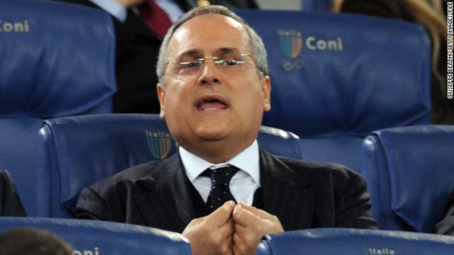 Italian entreprenuer Claudio Lotito has been president of Lazio since 2004.