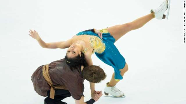 Be wowed by the contortions of the ice dancers at the Winter Games. Here American duo Lynn Kriengkrairut and Logan Giulietti-Schmitt flex their muscles.