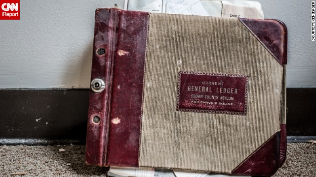 "A ledger left behind at an asylum in Green Bay, Wisconsin, documents business transactions from the 1950s and '60s. Fager visited during the building's demolition last year. ""The building was relatively barren and did not have much to photograph throughout. This is one of those discoveries that makes you question, 'How and why is this important record still here?' """