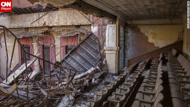 Located inside an abandoned apartment building in Baltimore that was later turned into a school, this <a href='http://ireport.cnn.com/docs/DOC-1077095'>auditorium</a> was practically in shambles. Carolyn Kina visited in November.