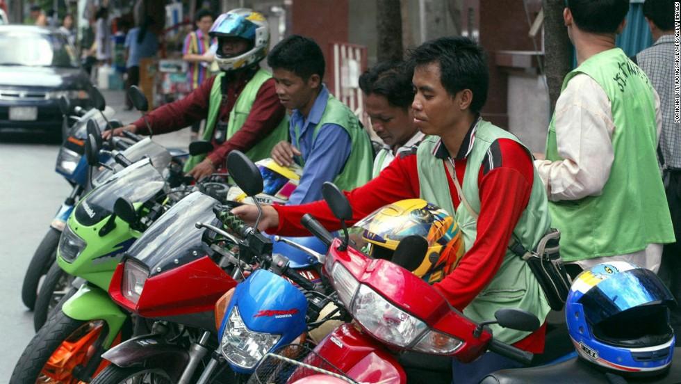 Paseo en mototaxi (Tailandia)