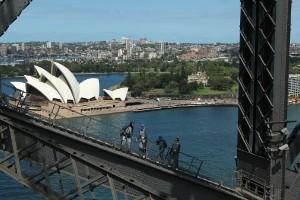 Subida al Puente de la Bahía de Sídney (Australia)