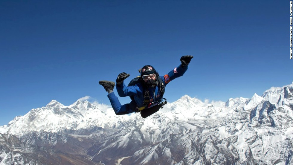 Paracaidismo en el Everest (Nepal)