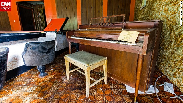 "A pianist himself, Dolan couldn't resist photographing and playing an old piano sitting in the hotel bar. ""I attempted to play the intro to 'Backstreets' by Bruce Springsteen,"" Dolan said, ""but the keys went down and never came back up."""