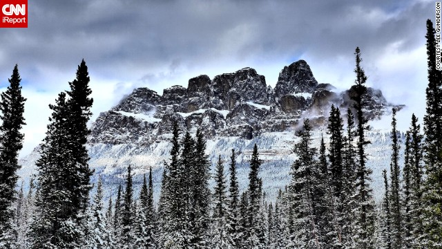 """I have never seen <a href='http://ireport.cnn.com/docs/DOC-1060272'>the mountains</a> so beautiful,"" said Lee Gunderson, who's lived in Canada his entire life. ""Sometimes nature can bring absolute wonder."""