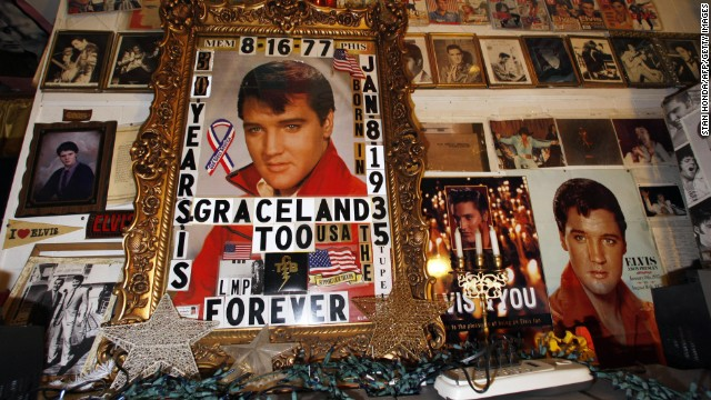 "Elvis Presley fan Paul MacLeod turned his home in Holly Springs, Mississippi, into ""Graceland Too,"" a vast collection of Presley related items."
