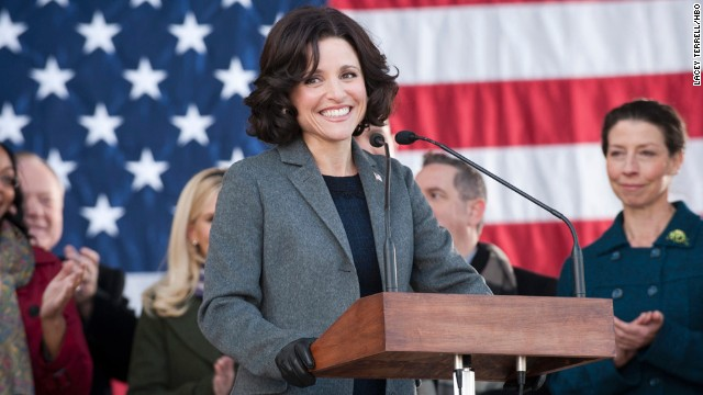 "Julia Louis-Dreyfus has won three Emmy awards for her portrayal of Selina Meyer, a fictional vice president of the United States, on ""Veep."""