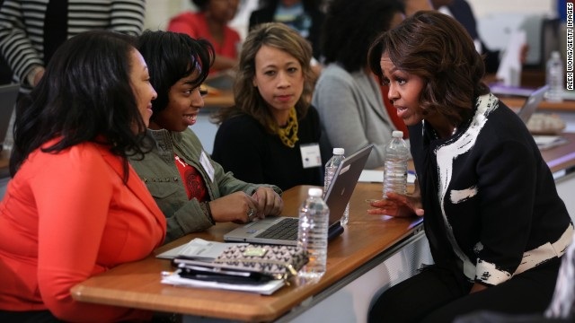 First lady to college applicants: 'Don't leave money on the table'