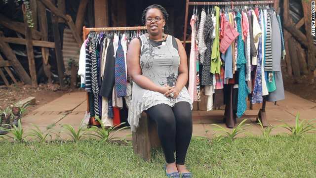Serah Kanyua began selling clothes to her friends while at university. After graduating with a marketing degree she went into business with a high school friend.